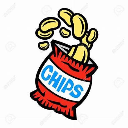 Chips Potato Bag Clipart Packet Crisp Vector
