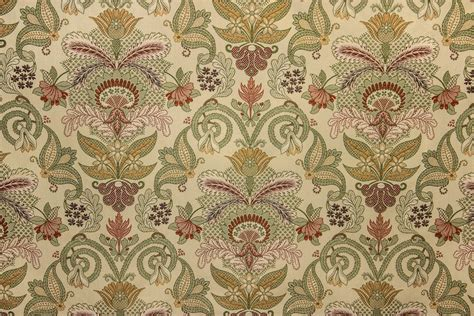 embroidered floral fabric country fabric by the