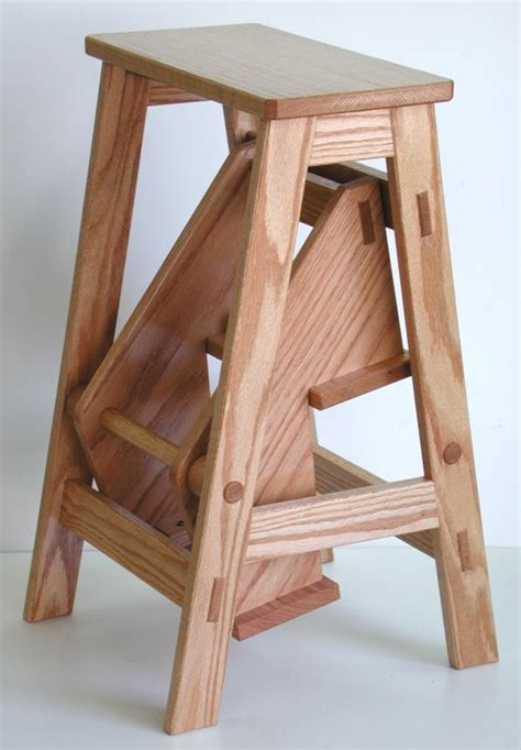folding wooden step stool plans  woodworking