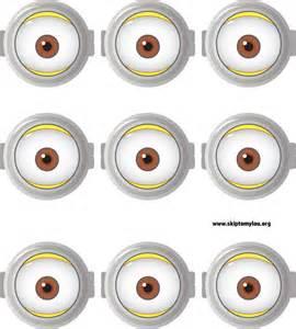 Printable Minion Eyes Template