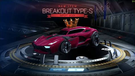 Case Opening Rocket League Geting Breakout Type S