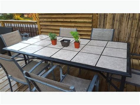 ceramic top patio table ceramic tile patio table with six chairs