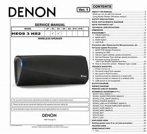 Denon Heos 3 Hs2 Wireless Speakers Service Manual And