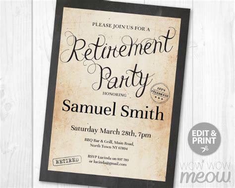 retirement party flyer templates  ai psd