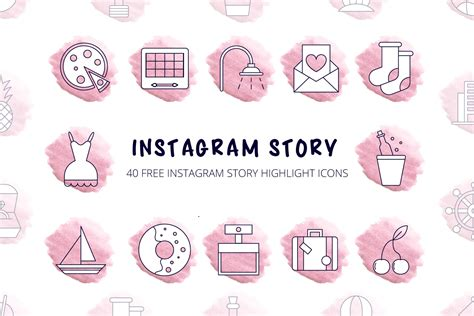 Ai, eps and png file format resolution: 40 Free Instagram Story Highlight Icons - GraphicSurf.com (DesZone.net)