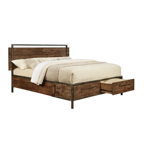 23633 king platform bed with drawers coaster arcadia king platform bed with drawers 203801ke