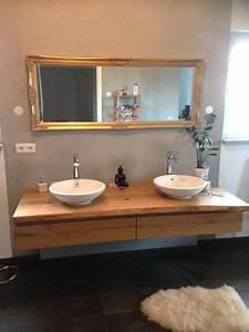 Waschtisch Holz Rustikal : waschtisch aus eiche mit schubkasten badezimmer ~ Frokenaadalensverden.com Haus und Dekorationen