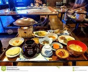 Traditional Japanese Dinner Set Stock Photo - Image: 40569711