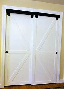 remodelaholic how to make bypass closet doors into With bypass barn doors for closets