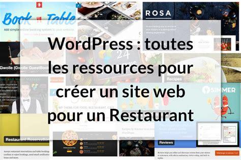 Les Meilleures Ressources Pour Un Site Restaurant Avec
