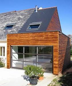 extension bois maison extension en bois toiture en With le plan d une maison 16 agrandissement maison bois extension bois