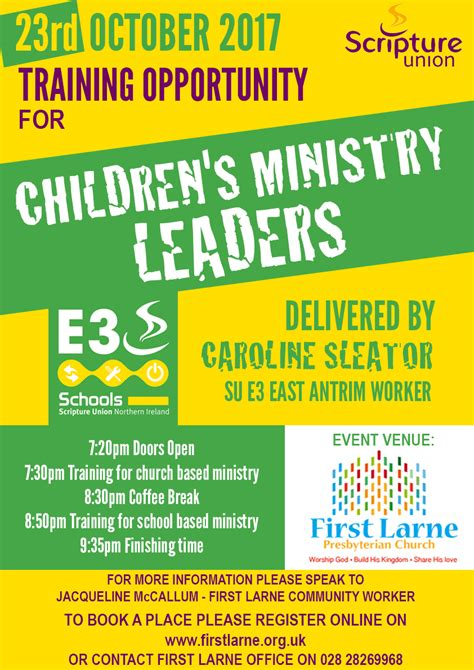 change  date training  childrens ministry leaders