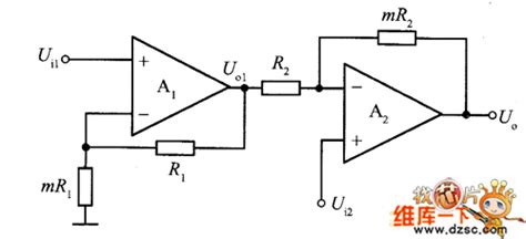 High Input Impedance Differential Amplifier Circuit