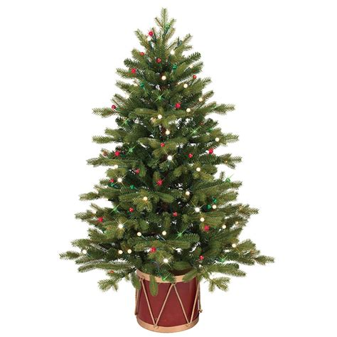 shop ge 4 ft pre lit colorado spruce slim artificial tree with white clear