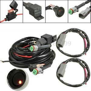 Switch Relay Twin Wiring Harness Kit For Led