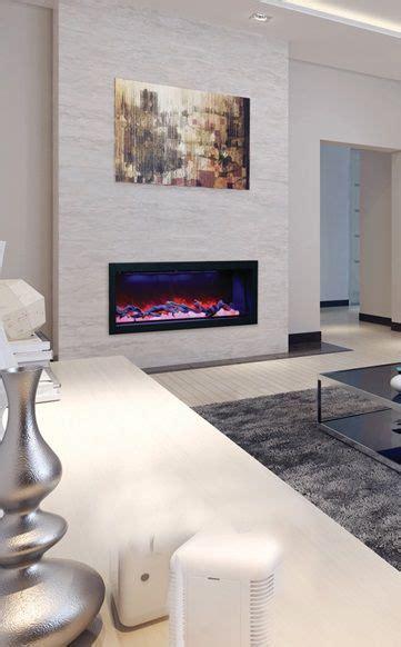 amantii bi  deep electric fireplace shown  logs