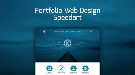 web design speedart portfolio site redesign youtube