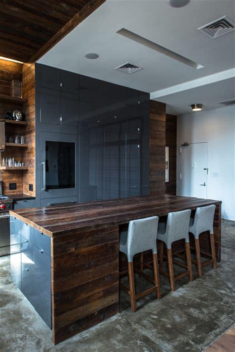 jane kim design industrial kitchen  york