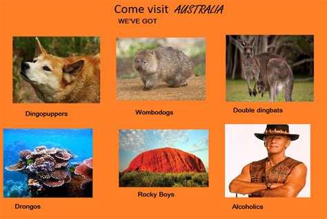Where Memes Come From - australia quot why not visit quot edits know your meme