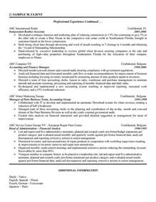 finance analyst resume template international financial analyst resume