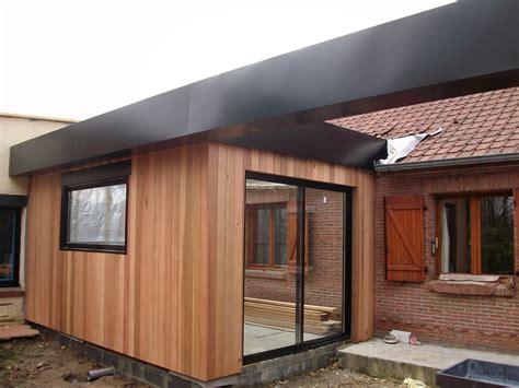 construire garage bois toit plat 15 pose bardage bois prix bardage bois composite autoclave