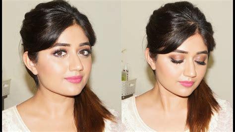 glamorous natural makeup tutorial  indian skin corallista youtube