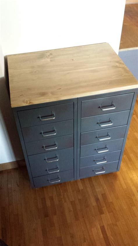 caisson de bureau ikea meuble industriel avec caissons helmer meubles