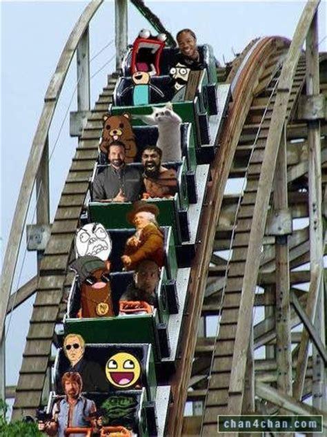 Roller Coaster Meme - rollercoaster photoshop cat chuck norris fffuuu pedobear xzbit sparta meme