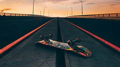 Skateboard Road Sky Skate Skateboarding Wallpapers Background