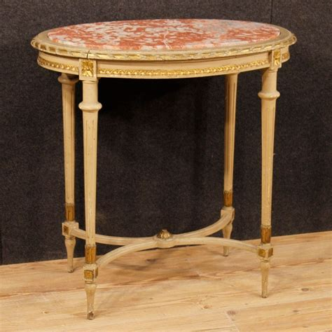 Italian Coffee Table In Lacquered And Gilt Wood With