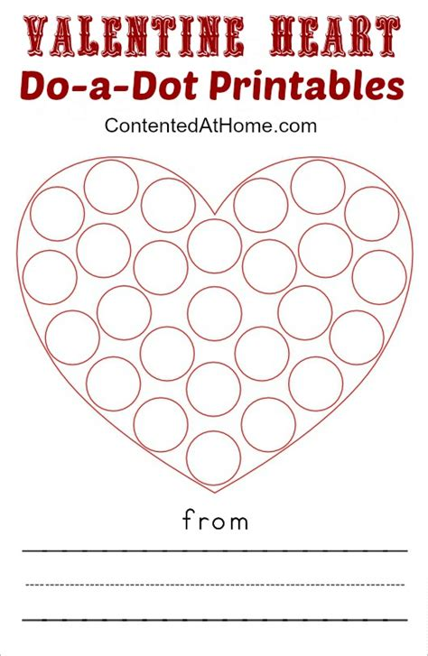 dot printables valentine hearts contented  home