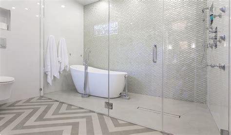 bathtub  large walk  shower transitional bathroom