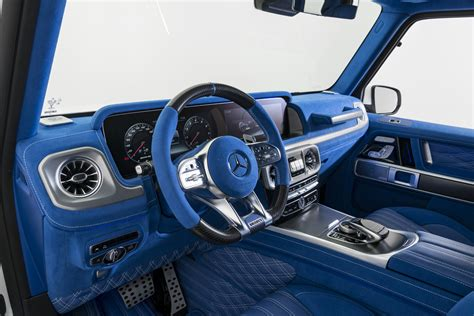 The extremely slim led tail lamps including dynamic turn indicator. There is Nothing More Blue Than This G63 AMG Interior » AutoGuide.com News
