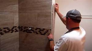 Install Shower Tile Edging Trim Quick And Easy YouTube