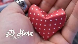 Herz Falten Origami : origami herz zum valentinstag in 3d youtube ~ Eleganceandgraceweddings.com Haus und Dekorationen