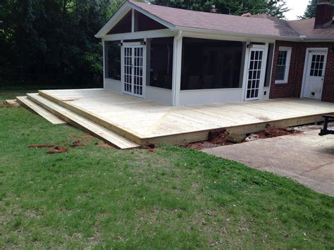 Porch With Wrap Around Deck And Stairs  The Carolina