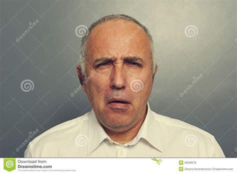Senior Man With Silly Expression Stock Photo