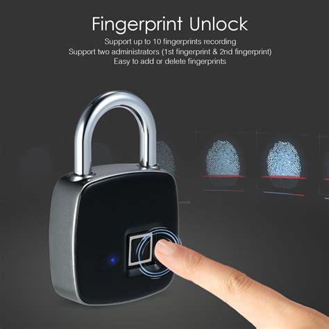 keyless fingerprint security padlock pouted magazine