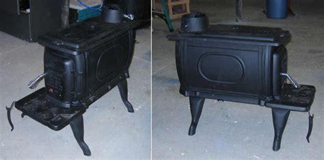 install  small wood burning stove   garage