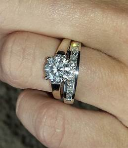 I39d love to see your pics with your wedding bands and for Is an engagement ring the same as a wedding ring