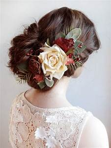 Wedding Hair Piece Burgundy Red Hair Accessory Bridal