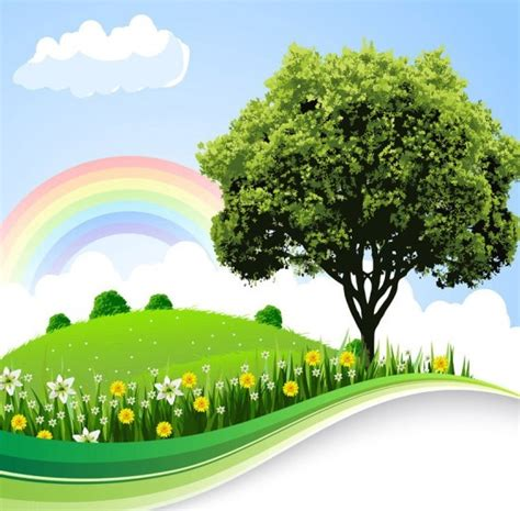 Looking for the best anime scenery wallpaper? Free Vector Cartoon Nature Background 07 - TitanUI