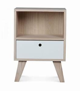 Table Chevet Design : table de chevet design en bois haut 50cm ~ Teatrodelosmanantiales.com Idées de Décoration