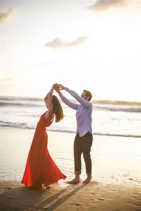 Dancing On The Shore In This Manhattan Beach Sunset Engagement Session
