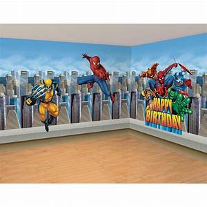 Superhero wallpaper for bedroom bukit for Kitchen cabinets lowes with marvel superhero wall art