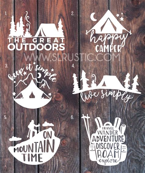 camping decals adventure decal hiking decal mountain decal