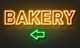 Neon Bakery And Coffee Sign Stock Image Image of night