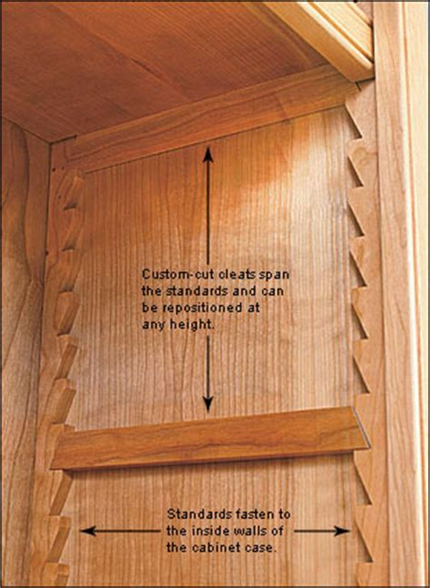 cabinet adjustable shelf hardware sawtooth shelf system lee valley tools