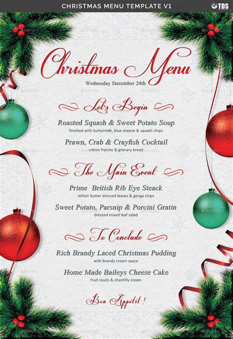 christmas menu christmas menu template v1 by lou606 graphicriver