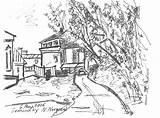 Monastery Chernyavskaya Drawing Yard Tasha Drawings 6th sketch template